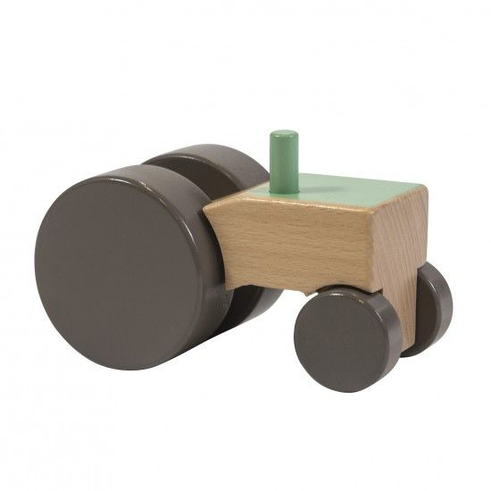 Sebra - Wooden tractor - green - Toys - Sebra - Bmini - Design for Kids - 1