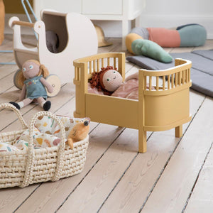 Sebra - Wooden dolls pram - Dusty pink