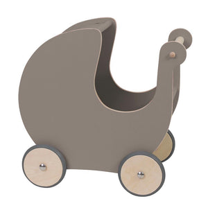 Sebra - Wooden dolls pram - Warm grey - Dolls accessories - Bmini | Design for Kids