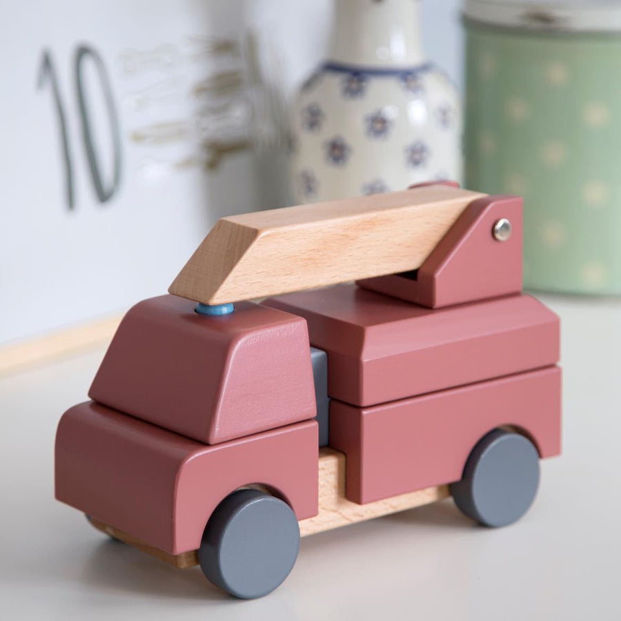 Sebra - Stacking toy - Wooden fire truck - Toy Car - Bmini | Design for Kids