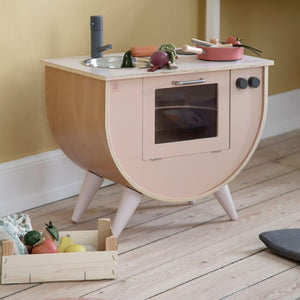 Sebra - Play kitchen - Sunset pink - Kitchen - Bmini | Design for Kids