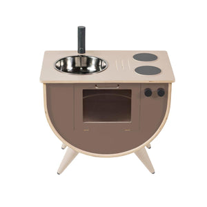 Sebra - Play kitchen - Warm grey - Kitchen - Bmini | Design for Kids