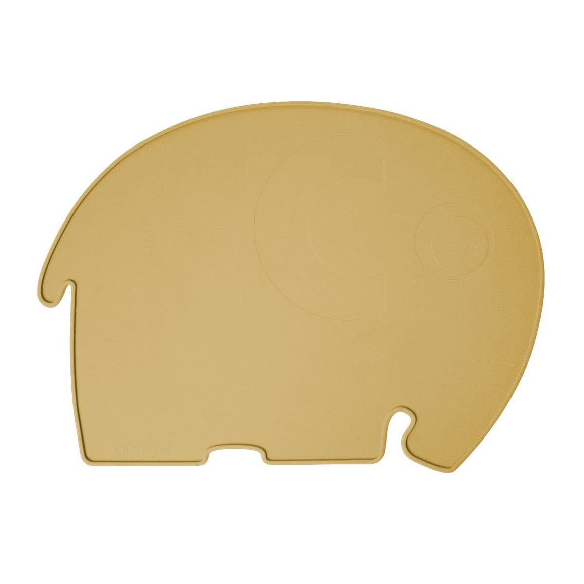 Sebra - Silicone placemat - Fanto the elephant - Yellow
