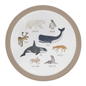 Sebra - Melamine plate - Arctic Animals - Eat - Bmini | Design for Kids