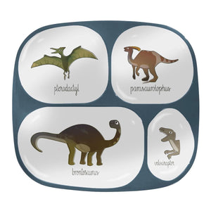 Sebra - Melamine plate - 4 rooms - Dino - Eat - Bmini | Design for Kids