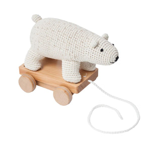 Sebra - Pull-along toy - Crochet - Polar bear