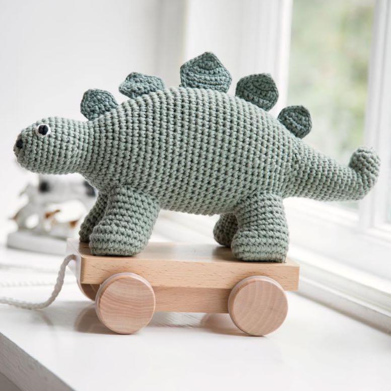 Sebra - Pull-along toy - Crochet - Dino - Pull toy - Bmini | Design for Kids