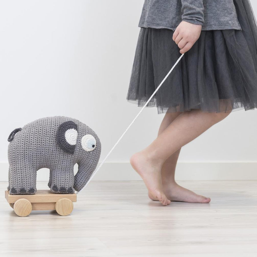 Sebra - Pull-along toy - Fanto the elephant - Classic grey - Pull toy - Bmini | Design for Kids