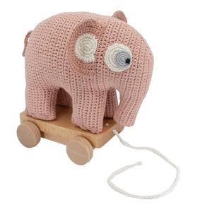 Sebra - Pull-along toy - Fanto the elephant - Pink - Pull toy - Bmini | Design for Kids