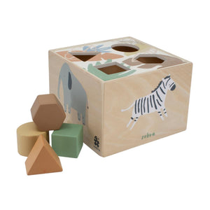 Sebra - Wooden shape sorter - Wildlife - Sorting toy - Bmini | Design for Kids
