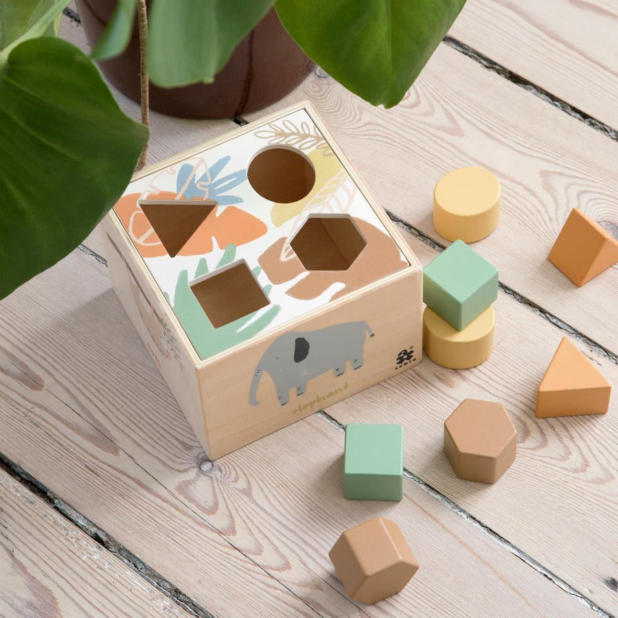 Sebra - Wooden shape sorter - Wildlife