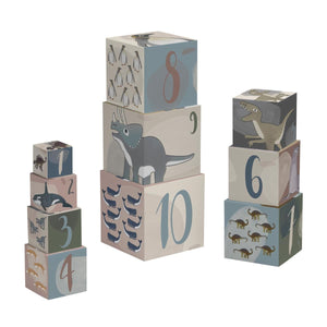 Sebra - Stacking blocks - Dino and arctic animals