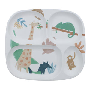 Sebra - Melamine plate - 4 rooms - Wildlife - Eat - Bmini | Design for Kids