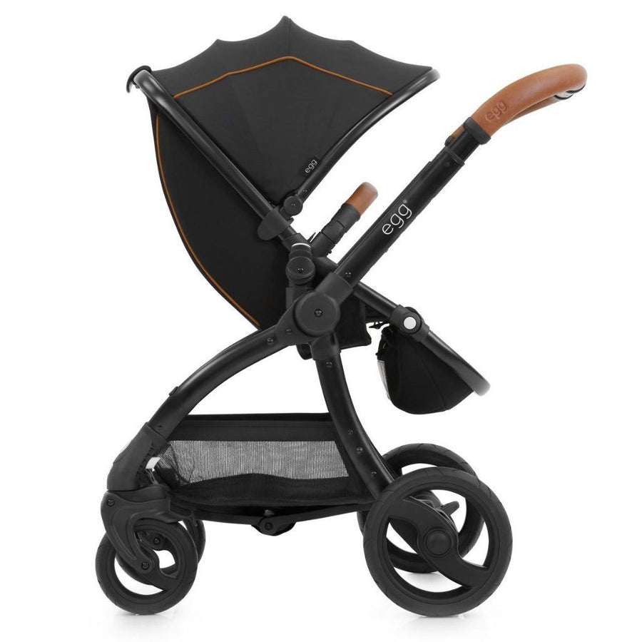 EGG - Stroller -  Espresso Black Fabric on Black Frame - Stroller - Bmini | Design for Kids