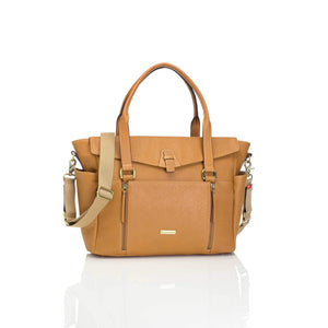 Storksak - Diaper Bag - Emma leather tan - Diaper bags - Bmini | Design for Kids