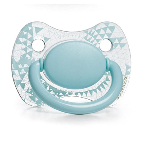 Suavinex - Blue Haute Couture pacifier #3 & soother chain (+4m) - Pacifier - Suavinex - Bmini - Design for Kids - 2