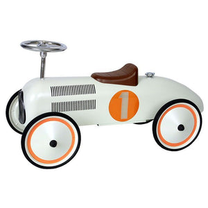 Retro Roller - White Classic Racer - Judy - Ride on toy - Bmini | Design for Kids
