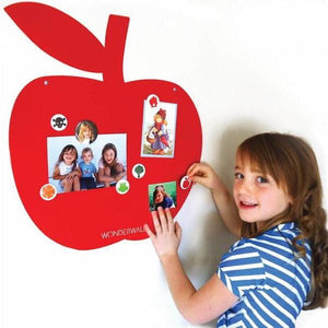 Magnetic Whiteboard Apple Red - Wonderwall - white board - Bmini | Design for Kids