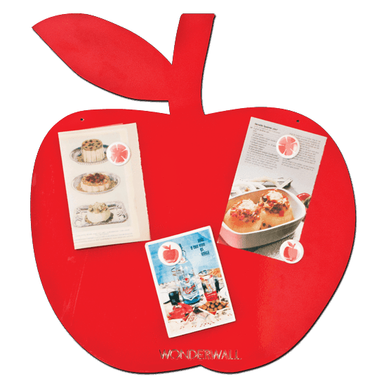 Wonderwall - Magnetic whiteboard Apple - Red - white board - Bmini | Design for Kids