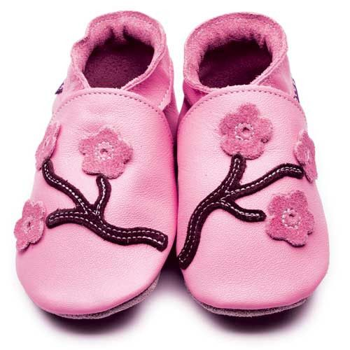 Inch Blue - Cherry Blossom (Pink/Chocolate) - Shoes - Bmini | Design for Kids
