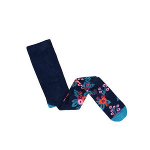 Billy Loves Audrey - Tights - Garden - Navy - Socks & Tights - Bmini | Design for Kids