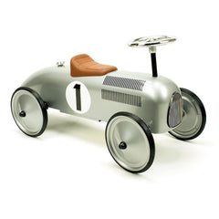 Retro Roller - Classic Silver Racer - Jean - Ride on toy - Bmini | Design for Kids
