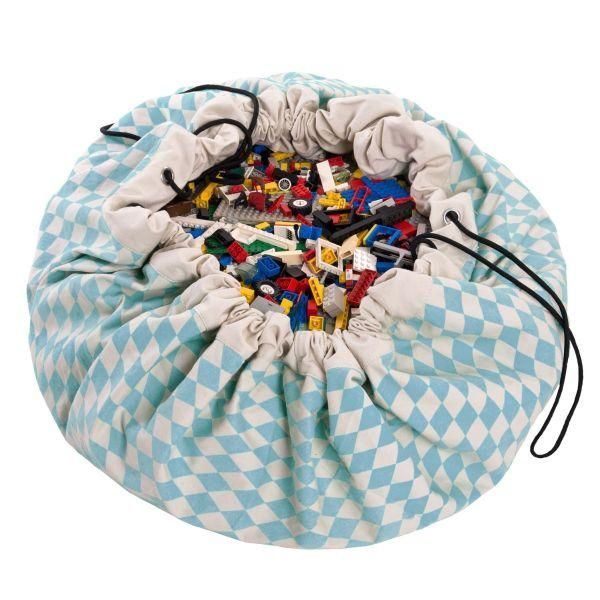 Play & Go - Play Mat and Toy Storage Bag - Diamond Blue