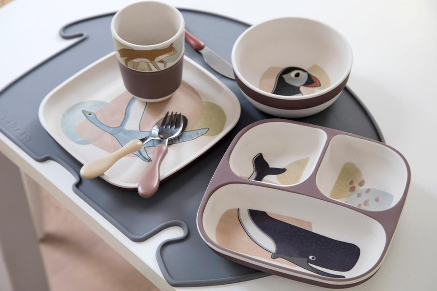 Sebra - Dinner set - Arctic Animals - Eat - Bmini | Design for Kids