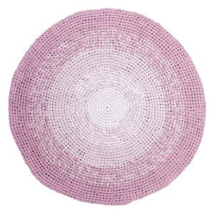 Sebra - Crochet floor mat - gradient rose - Rug - Bmini | Design for Kids