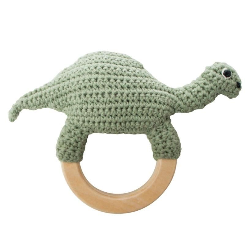 Sebra - Baby rattle - Dino on ring - Rattle - Bmini | Design for Kids