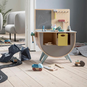 Sebra - Play tool bench - Warm Grey - Toy tool - Bmini | Design for Kids