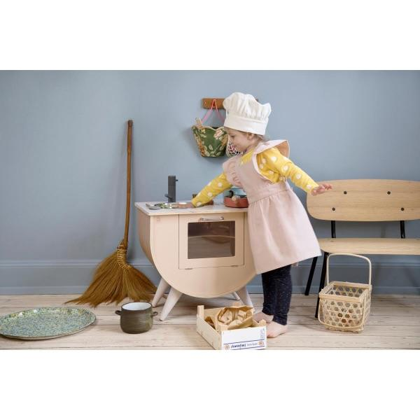 Sebra - Apron and hat - Dusty pink - Kitchen - Bmini | Design for Kids