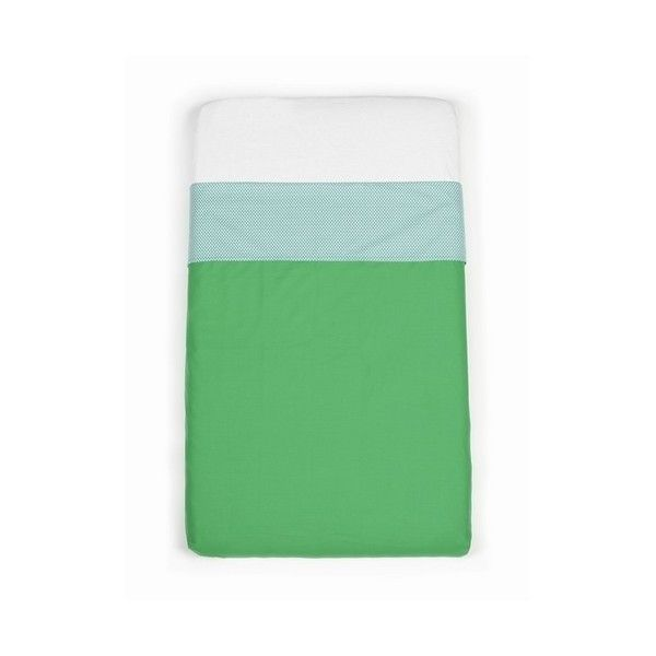 Mundo Melocoton - Green cot sheets (120x150) - Bedding - Bmini | Design for Kids
