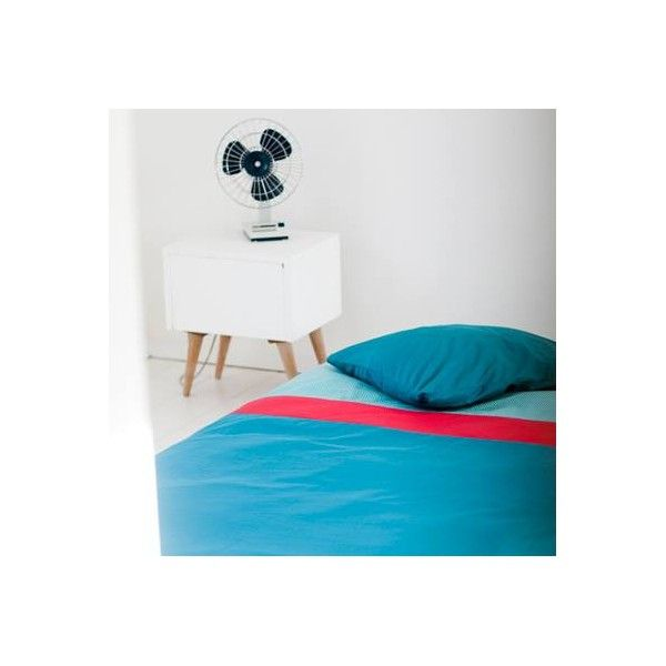 Mundo Melocotón - Aqua blue/Red - Duvet cover - (140x200) - Duvet Cover - Bmini | Design for Kids