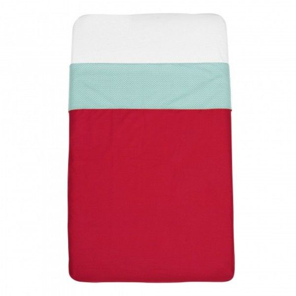 Mundo Melocoton - Red cot sheets (120x150) - Bedding - Bmini | Design for Kids