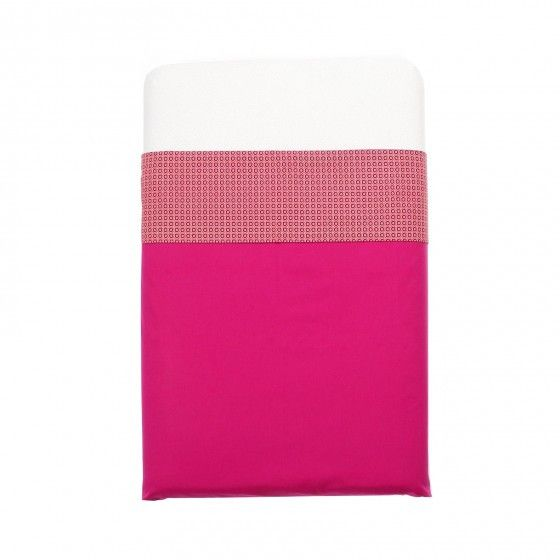 Mundo Melocoton - raspberry pink cot sheets (120x150) - Bedding - Bmini | Design for Kids