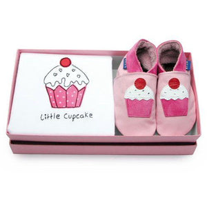 Baby Shoes Little Cupcake Gift Set - Inch Blue - Shoes - Bmini | Design for Kids