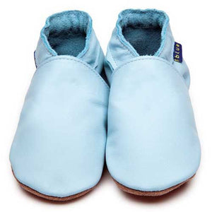 Baby Shoes Plain Baby Blue - Inch Blue - Shoes - Bmini | Design for Kids