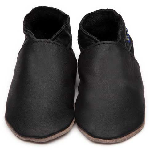 Inch Blue - Plain Black - Shoes - Bmini | Design for Kids