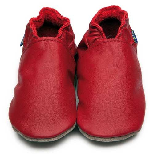 Inch Blue - Plain Red - Shoes - Bmini | Design for Kids