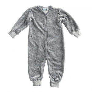 Mundo Melocotón - Playsuit Velvet - Grey Melee - Clothing-Playsuit - Bmini | Design for Kids