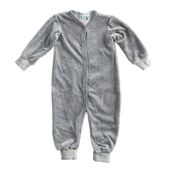 Mundo Melocotón - Playsuit Velvet - Grey Melee - Clothing-Playsuit - Mundo Melocoton - Bmini - Design for Kids