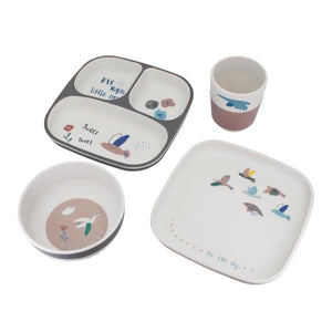 Sebra - Dinner set - Singing birds