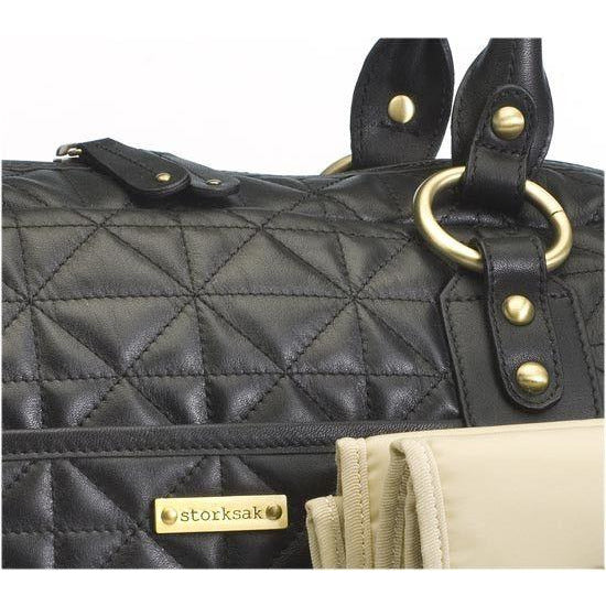 Storksak Elizabeth - Quilted black diaper bag - Diaper bags - Storksak - Bmini - Design for Kids - 3