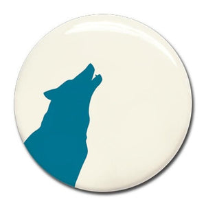 Wonderwall - Blue wolf magnet (37mm) - white board - Bmini | Design for Kids