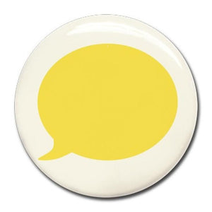 Wonderwall - Yellow text bubble magnet (37mm) - white board - Bmini | Design for Kids