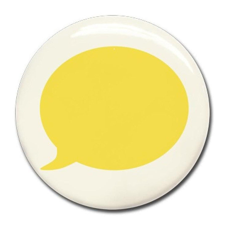 Magnet Yellow text bubble - Wonderwall - white board - Bmini | Design for Kids