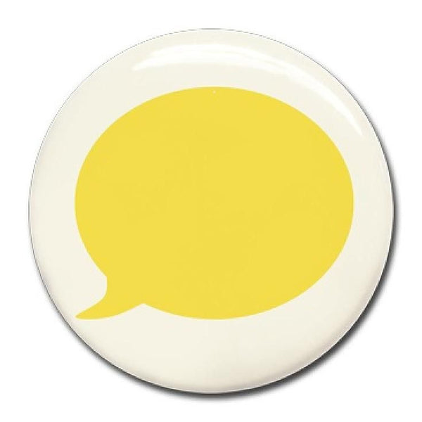 Wonderwall - Yellow text bubble magnet (37mm) - white board - Wonderwall - Bmini - Design for Kids