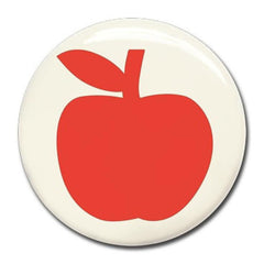 Wonderwall - Red apple magnet (37mm) - white board - Bmini | Design for Kids