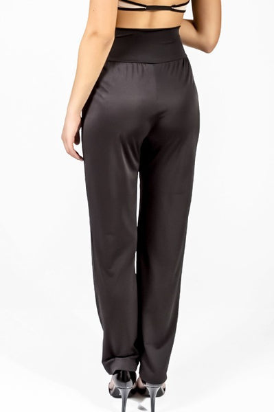 Pleat Front High Waisted Dress Pants